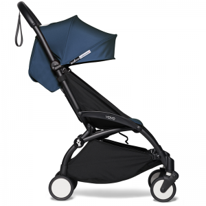 Babyzen Yoyo2 Stroller, 6+ Black/Air France Blue