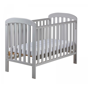 East Coast Anna Drop-side Cot- Grey