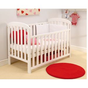 East Coast Anna Drop-side Cot- White