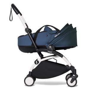 Babyzen YOYO² Stroller and Bassinet- White_Navy Blue