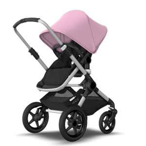 Bugaboo Fox² Complete Pushchair Bundle- Aluminium_Black_Soft Pink