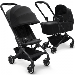 Joolz Aer Pushchair and Carrycot Bundle-Refined Black