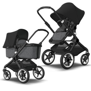 Bugaboo Fox² Complete Pushchair Bundle- Black_Grey Melange_Black