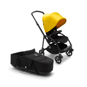 Bugaboo Bee 6 Pushchair, Seat and Carrycot - Black + Yellow