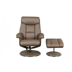 Biarritz Nursing Chair- Swivel Recliner and Footstool- Truffle