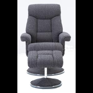 Biarritz Nursing Chair- Swivel Recliner and Footstool- Lisbon Grey