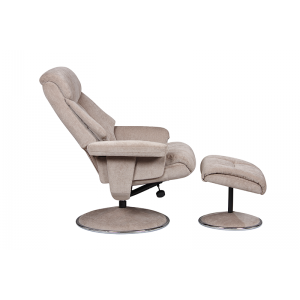 Biarritz Nursing Chair- Swivel Recliner and Footstool- Mist