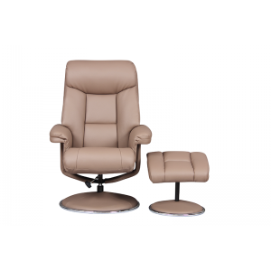 Biarritz Nursing Chair- Swivel Recliner and Footstool- Earth