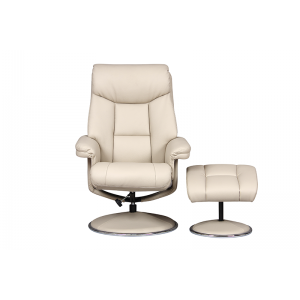 Biarritz Nursing Chair- Swivel Recliner and Footstool- Bone