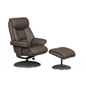 Biarritz Nursing Chair- Swivel Recliner and Footstool- Charcoal