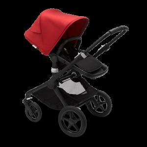 Bugaboo Fox² Complete Pushchair Bundle- Black_Black_Red