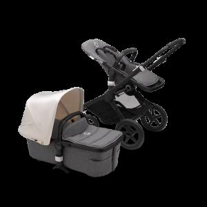 Bugaboo Fox² Complete Pushchair Bundle- Black_Grey Melange_Fresh White