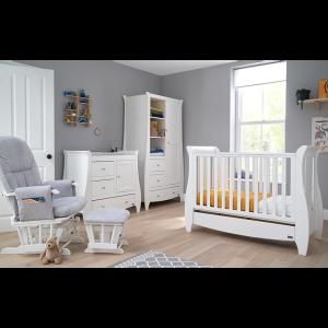 Tutti Bambini Katie 5 Piece Sleigh Nursery Room Set- White