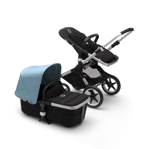 Bugaboo Fox² Complete Pushchair Bundle- Aluminium_Black_Vapor Blue