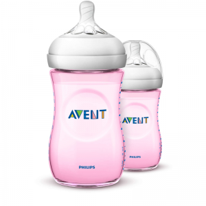 Philips Avent Natural Bottle Pink 260ml 2Pk