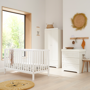 Tutti Bambini Malmo 3 Piece Nursery Room Set With Cot Top Changer- White
