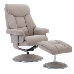 Biarritz Nursing Chair- Swivel Recliner and Footstool- Lisbon Wheat