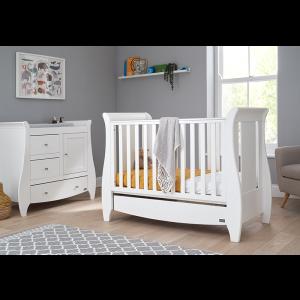 Tutti Bambini Katie 2 Piece Sleigh Nursery Room Set- White