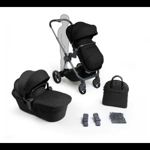 iCandy Lime Lifestyle Pushchair and Carrycot Bundle- Phantom, Black