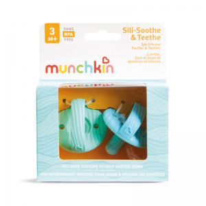Munchkin Silicone Pacifier + Texture Blue & Green 2Pk