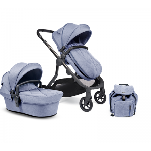 iCandy Orange Single Pushchair and Carrycot- Mist Blue Marl