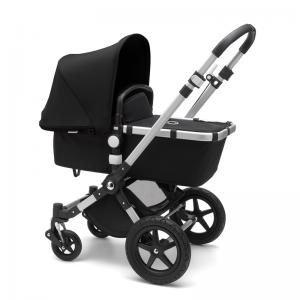 Bugaboo Cameleon 3 Plus Pushchair and Carrycot Bundle- Aluminium_Black