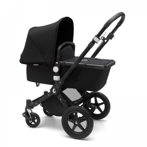 Bugaboo Cameleon 3 Plus Pushchair and Carrycot Bundle- Black