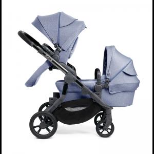iCandy Orange Double Pushchair- Mist Blue Marl
