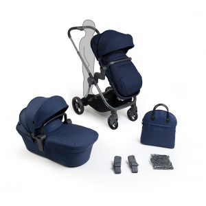 iCandy Lime Lifestyle Pushchair and Carrycot Bundle- Phantom, Navy