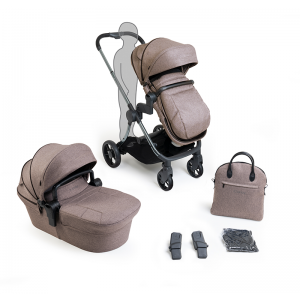 iCandy Lime Lifestyle Pushchair and Carrycot Bundle- Phantom, Taupe