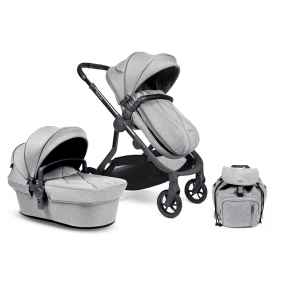 iCandy Orange Single Pushchair and Carrycot- Light Slate Marl