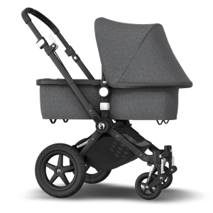 Bugaboo Cameleon 3 Plus Pushchair and Carrycot Bundle- Black_Grey Melange