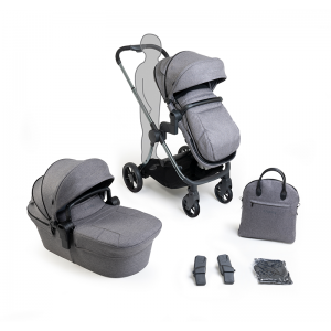 iCandy Lime Lifestyle Pushchair and Carrycot Bundle- Phantom, Charcoal