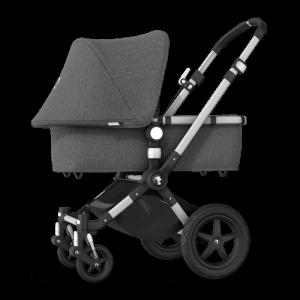Bugaboo Cameleon 3 Plus Pushchair and Carrycot Bundle- Aluminium_Grey Melange