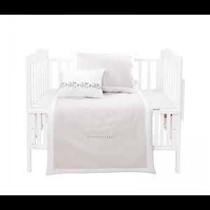 Mini Manilla Hotel Style Baby Linen Set White/Stone