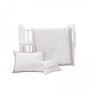 Mini Manilla Hotel Style Baby Linen Set White/Grey