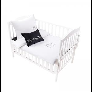 Mini Manilla Baby Asymmetrical Linen Set- Black/White