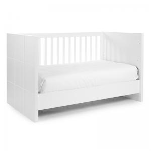 Quadro White Cot Bed 70x140cm