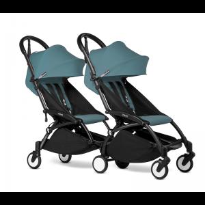 BABYZEN YOYO2 Complete Pushchair from Birth for Twins- Aqua