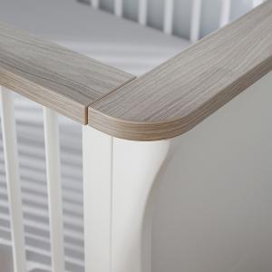 Clara Cot Bed - White & Ash