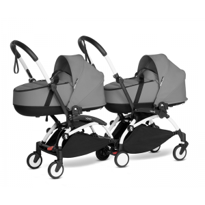 BABYZEN YOYO2 Complete Pushchair from Birth for Twins- Grey