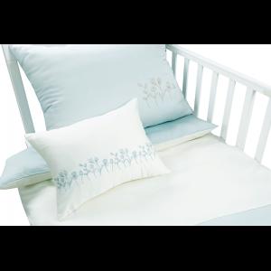 Mini Manilla Baby Asymmetrical Linen Set- Ecru/Vintage Blue