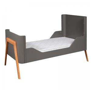 Troll Torsten Cot Bed - Grey/Teak