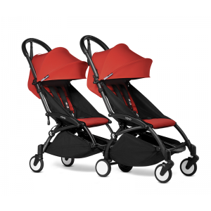 BABYZEN YOYO2 Complete Pushchair from Birth for Twins- Red