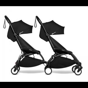 BABYZEN YOYO2 Complete Pushchair from Birth for Twins- Black
