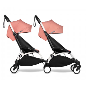 YOYO Complete Double Pushchair for Siblings- Ginger