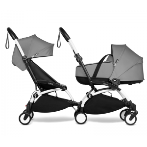 YOYO Complete Double Pushchair for Siblings- Grey
