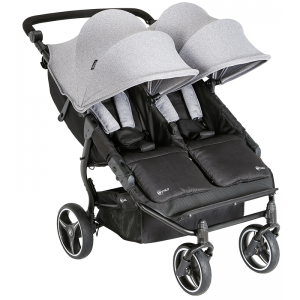 My Child Easy Twin Double Stroller- Grey