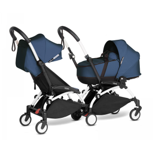YOYO Complete Double Pushchair for Siblings- Air France Blue