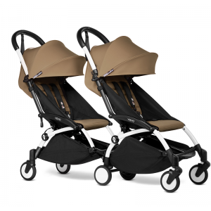 BABYZEN YOYO2 Complete Pushchair from Birth for Twins- Toffee